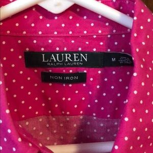 Ralph Lauren button down blouse M